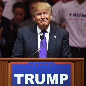 Donald Trump speaks at a rally on February 22, 2016 in Las Vegas, Nevada.