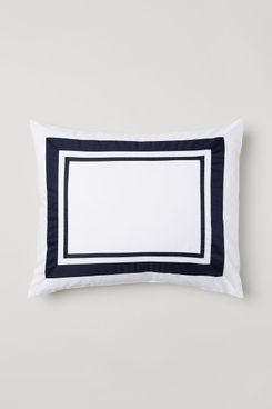 H&M Cotton Satin Pillowcase, Dark Blue