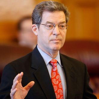Kansas Gov. Sam Brownback addresses members of state legislature