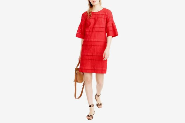 J.Crew Flutter Sleeve Eyelet Shift Dress