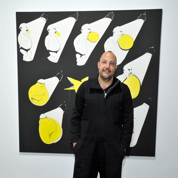 SANTA MONICA, CA - JANUARY 24: Stefan Simchowitz attends Art Los Angeles Contemporary opening night at Barker Hangar on January 24, 2013 in Santa Monica, California. (Photo by John Sciulli/WireImage)