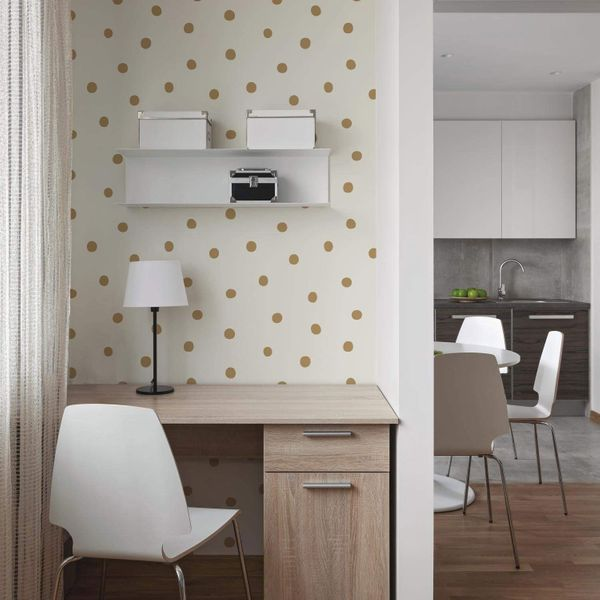 RoomMates Dots Repositionable and Removable Peel and Stick Wallpaper