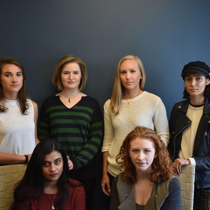 Clockwise from back left corner: Andrea Courtney, Annemarie Brown, Kristina Rapuano, Marissa Evans, Vassiki Chauhan, Sasha Brietzke