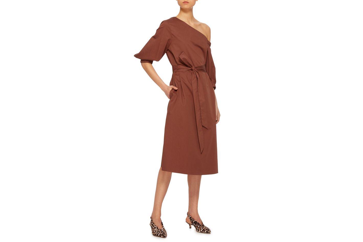 Tibi Asymmetric Cotton Dress