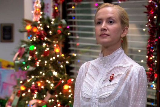 Angela's The Office Xmas Parties: Real Vs. Fake -- Vulture