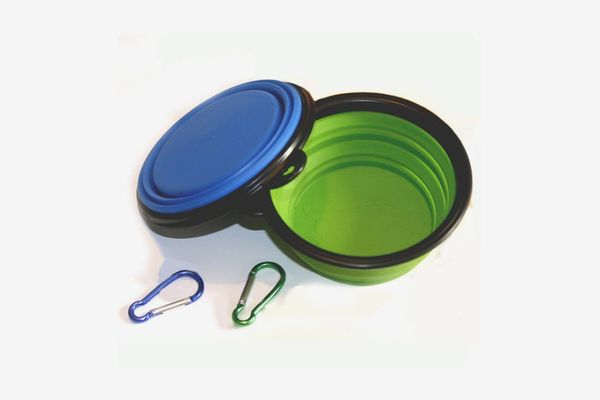 COMSUN Collapsible Dog Bowl, Pack of 2