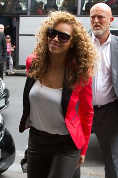 Beyonce is sighted at the 'Maison de la Truffe' restaurant on June 6, 2012 in Paris, France.