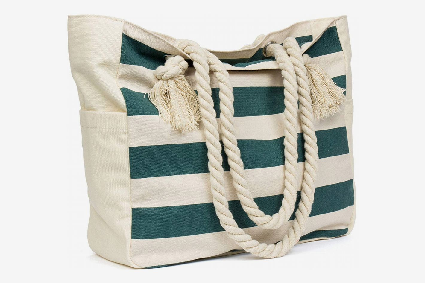Malirona Large Beach Bag with Cotton Rope Handle