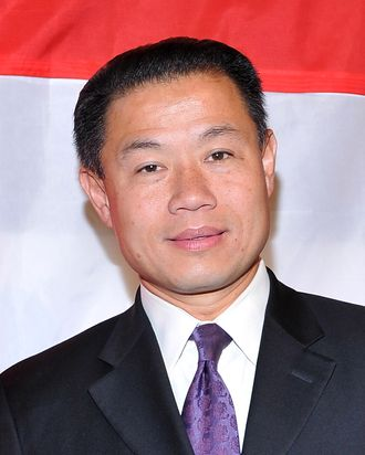 New York City Comptroller John Liu attends La MaMa's 50 Anniversary Season gala at the Ellen Stewart Theatre on October 17, 2011 in New York City.