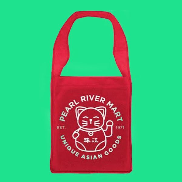 Pearl River Mart Canvas Tote — Lucky Cat