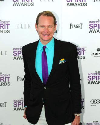 TV personality Carson Kressley arrives on the red carpet on February 25, 2012 for the Independent Spirit Awards