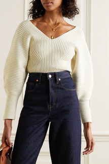 Mara Hoffman Olla ribbed organic cotton-blend sweater