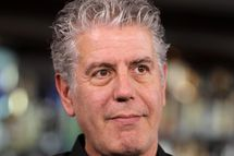 "TV personality Anthony Bourdain attends ""Parts Unknown Last Bite"" Live CNN Talk Show hosted by Anthony Bourdain at Atomic Liquors on November 10, 2013 in Las Vegas, Nevada."