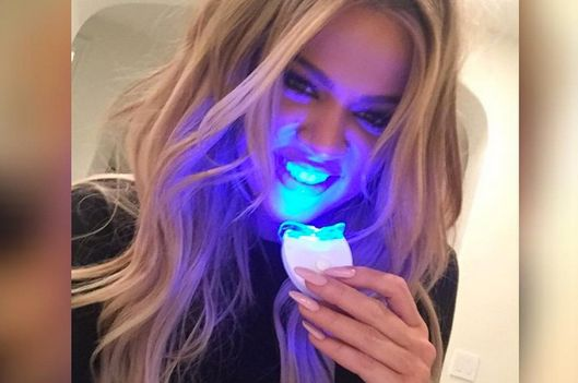 14 Celebs Posing Awkwardly With Teeth Whiteners The Cut
