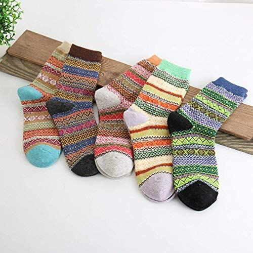 3 or 5 pair set Unisex Kids Christmas Cute Cotton Socks Warm Xmas Gift in 1