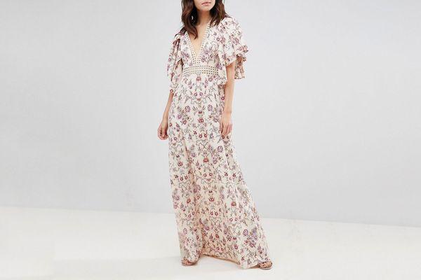 Floral Wallpaper Maxi Dress