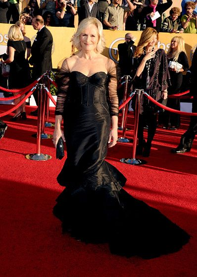 LOS ANGELES, CA - JANUARY 29:  Actress Glenn Close arrives at the 18th Annual Screen Actors Guild Awards at The Shrine Auditorium on January 29, 2012 in Los Angeles, California.  (Photo by Jason Merritt/Getty Images)