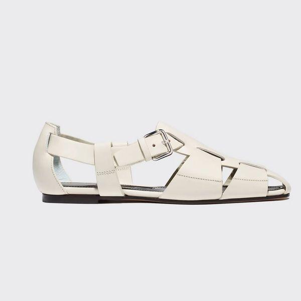 Emme Parsons Ernest Woven Leather Sandals