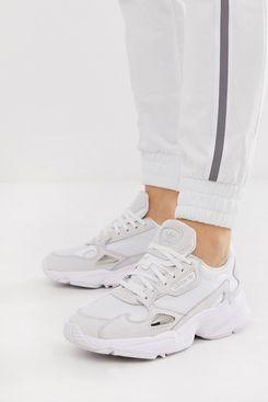 Adidas Originals Triple White Falcon Sneakers
