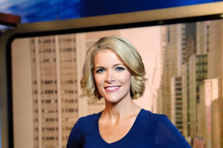 NEW YORK, NY - OCTOBER 10: Megyn Kelly, host of America Live on set at Fox News studios in New York. Fox News Channel celebrated its 15th anniversary on the air on October 7th.