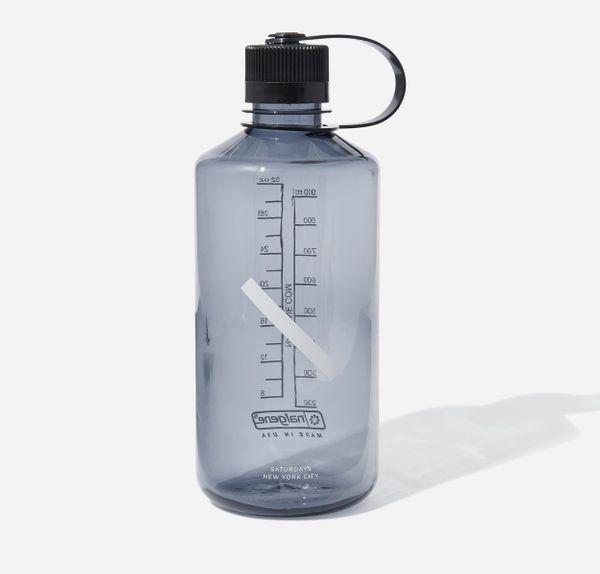 Nalgene Narrow Mouth Slash Bottle in Smoke Grey