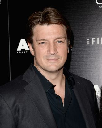 Actor Nathan Fillion attends the premiere of The Film Arcade's