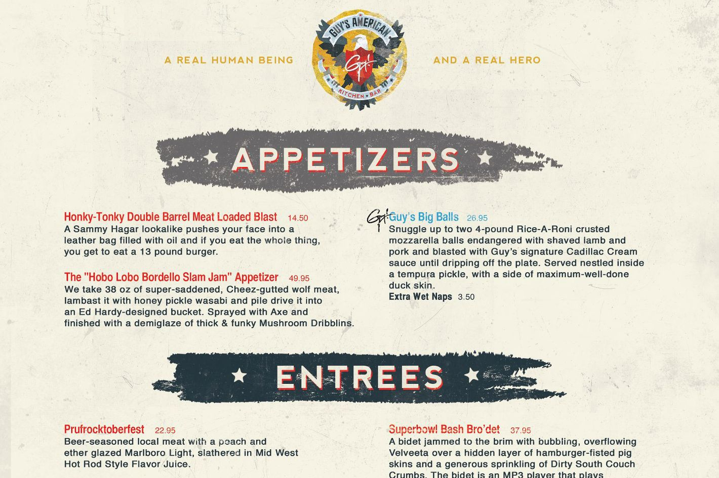 Restaurant Kitchen Jokes here's the greatest, fakest guy's american kitchen parody website ever