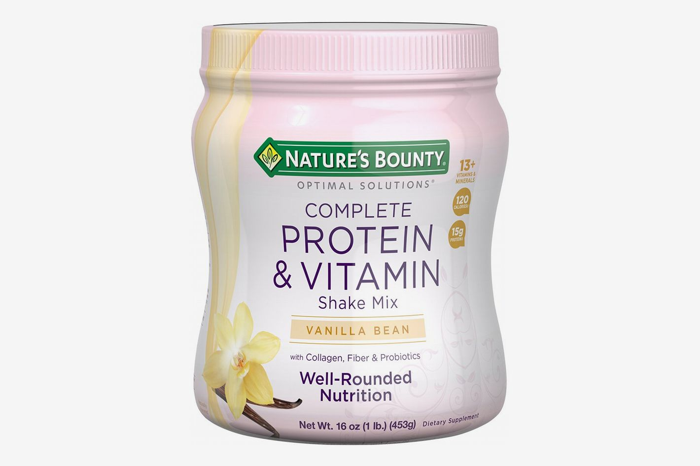 Nature's Bounty Optimal Solutions Protein Powder and Vitamin Supplement, Vanilla Bean