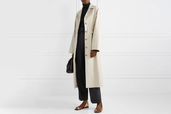 Le 17 Septembre Cotton-blend twill trench coat