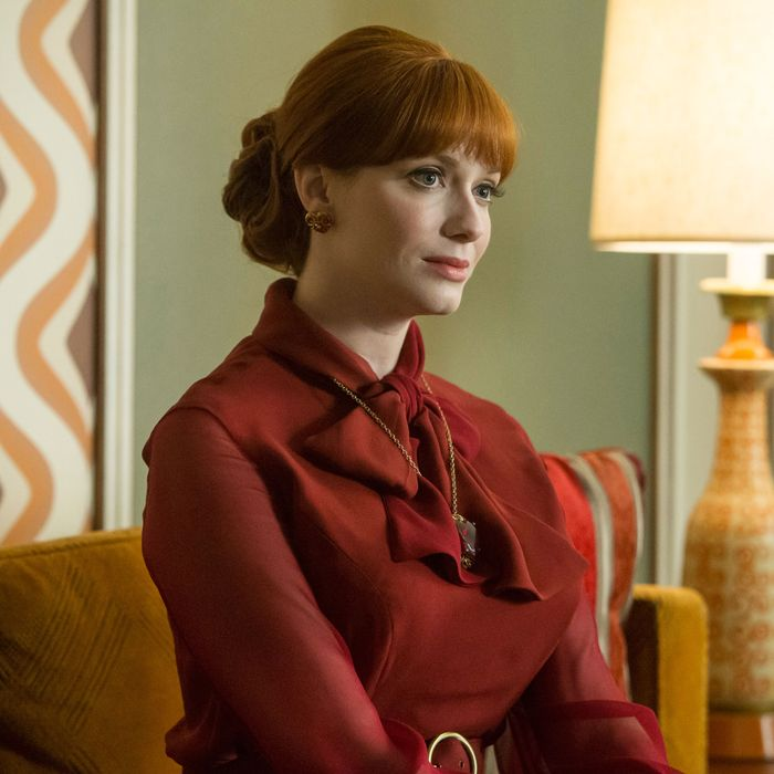 Christina Hendricks as Joan Holloway on