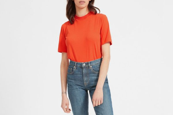 Everlane Cotton Mockneck Tee