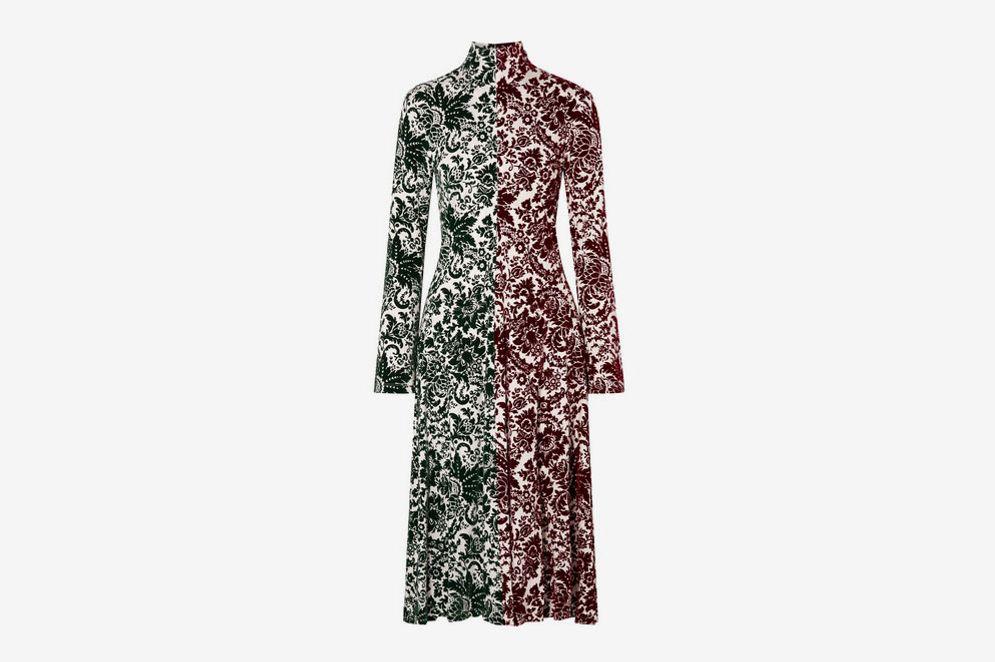 Rosie Assoulin Hans Yolo Flocked Jersey Midi Dress