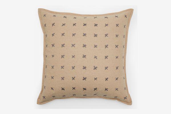 MoDRN Industrial Pick Stitch Decorative Throw Pillow