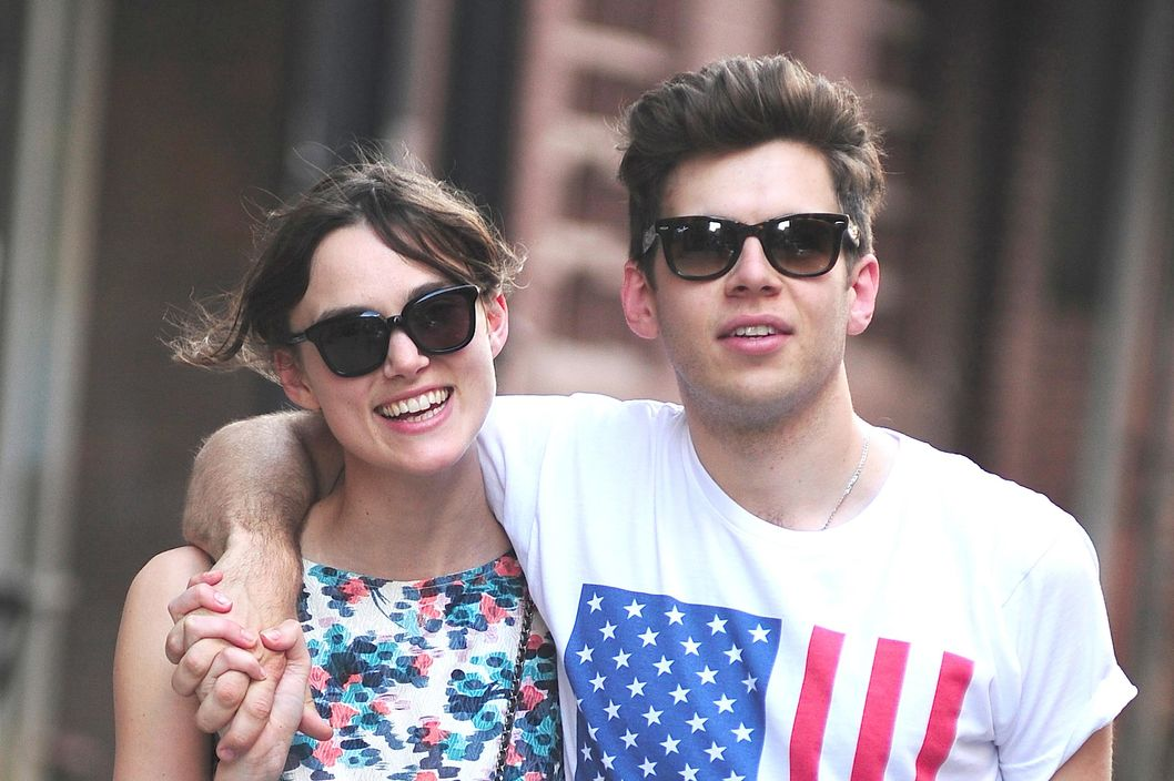 Keira Knightley and James Righton are seen in Soho on July 1, 2012 in New York City.