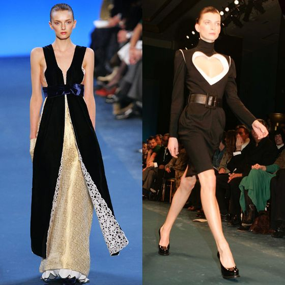 "Pilati was more restrained in his second YSL collection, <a href=""http://www.style.com/fashionshows/review/F2005RTW-YSLRG/"">telling Style.com</a>, ""I think now we want to be chic, considered, and rigorous ... and not to show our wealth so much."" He cited Flemish paintings of nuns as an inspiration, translating them into stiff turtlenecks and lots of white lace detailing."