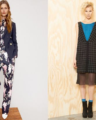 From left: new resort looks from Céline and rag & bone.