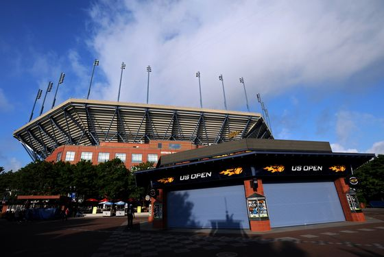 A general exterior view of the Arthur Ashe Stadium is seen prior to the start of play on Day One of the 2012 US Open at USTA Billie Jean King National Tennis Center on August 27, 2012 in the Flushing neigborhood of the Queens borough of New York City.