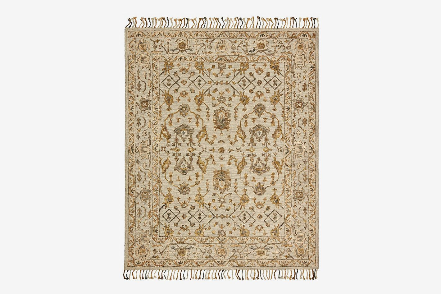 Stone & Beam Lottie Traditional Wool Area Rug, 5' x 8'