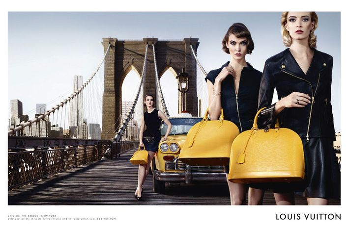Louis Vuitton's new Alma ad.