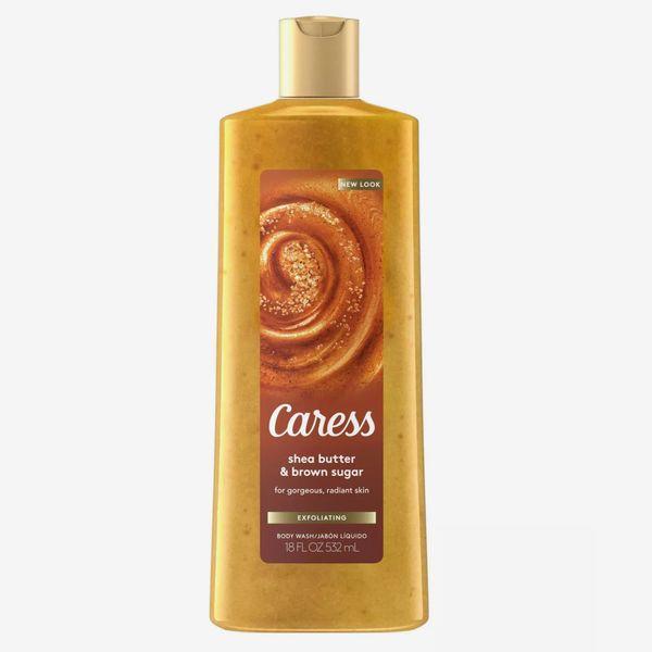 Caress Exfoliating Body Wash Soap Shea Butter & Brown Sugar