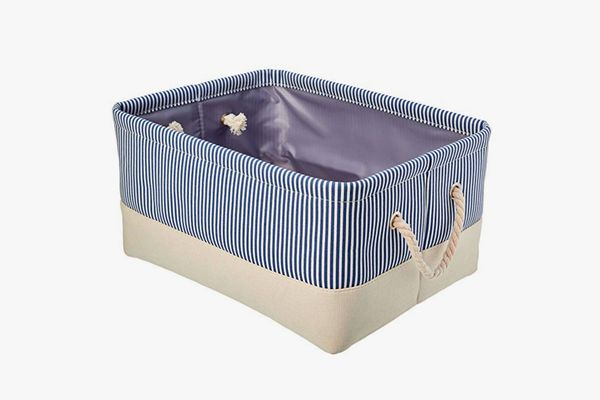 AmazonBasics Fabric Storage Basket Container with Rope Handles