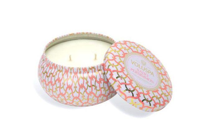 Voluspa Maison Blanc Saijo Persimmon 2-Wick Candle Tin