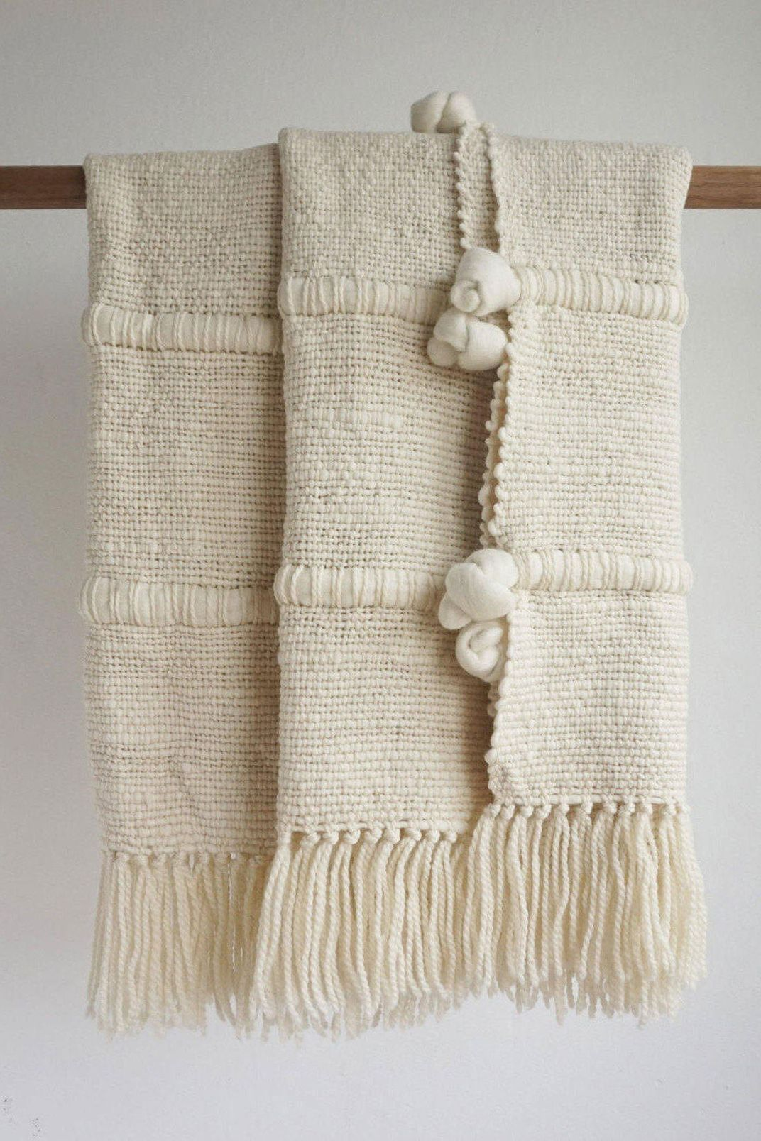TexturableDecor Knot Wool Blanket