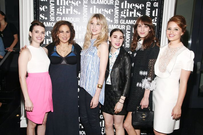 Emma Roberts, Kathy Najimy, Lucy Punch, Zosia Mamet, Alexa Chung, and Dianna Agron.
