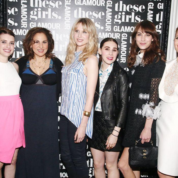 Emma Roberts, Kathy Najimy, Lucy Punch, Zosia Mamet, Alexa Chung, and Dianna Agron.