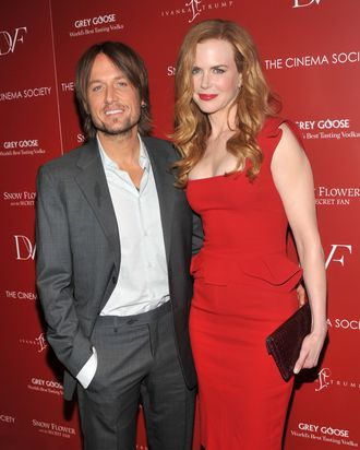 NEW YORK, NY - JULY 13: Singer/musician Keith Urban and wife actress Nicole Kidman attend the Cinema Society with Ivanka Trump Jewelry & Diane Von Furstenberg screening of