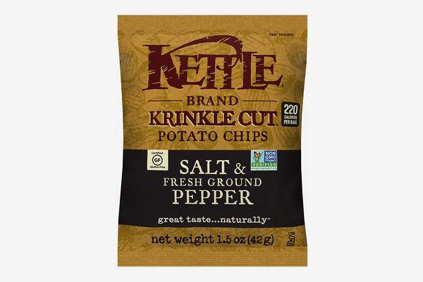 Kettle Brand Potato Chips, Krinkle-Cut Salt and Fresh Ground Pepper