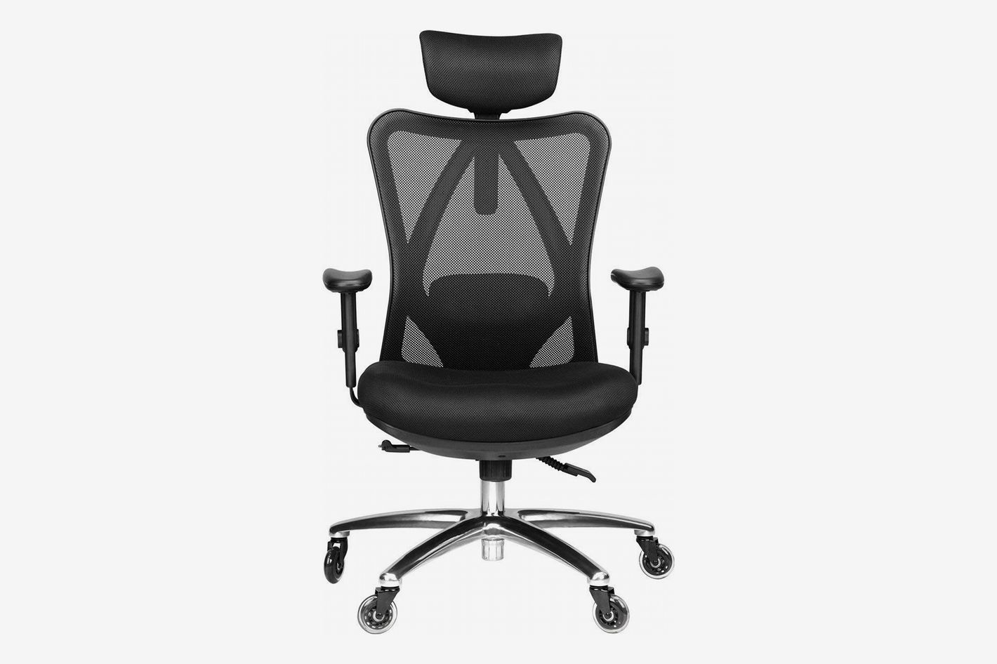 024ba238176 Duramont Ergonomic Adjustable Office Chair with Lumbar Support and Headrest
