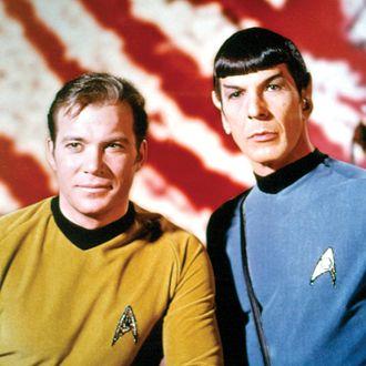 STAR TREK, William Shatner, Leonard Nimoy, 1966-1969. ?Paramount. Courtesy: Everett Collection