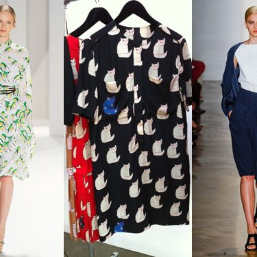 From left: Carolina Herrera; Victoria by Victoria Beckham; Zero + Maria Cornejo.